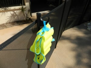 pool fence hanger attachment