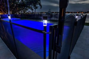 pool fence solar light attachment