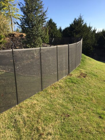 Installed in grass on a Slope!