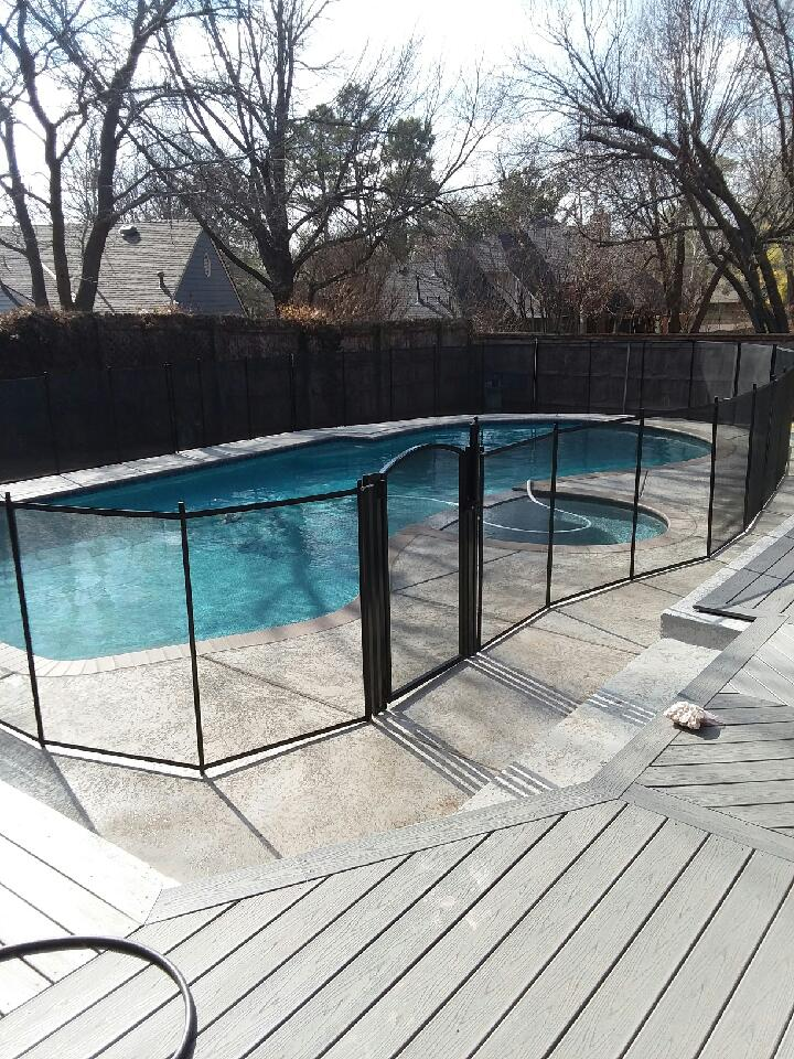 Life Saver Pool Fence Oklahoma Installs Pool Fence For New Grandparents In Norman Ok